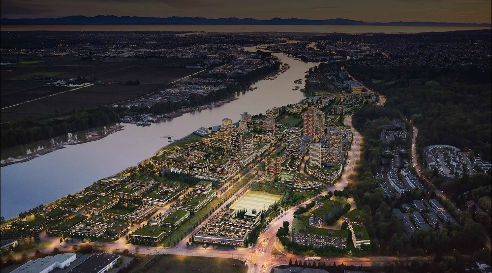 Riverdistrict towncentrewebsite homepage rendering greenroofs