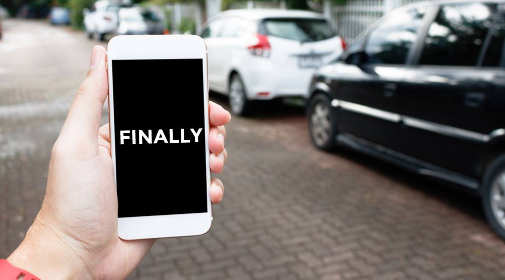 Parking phone finally