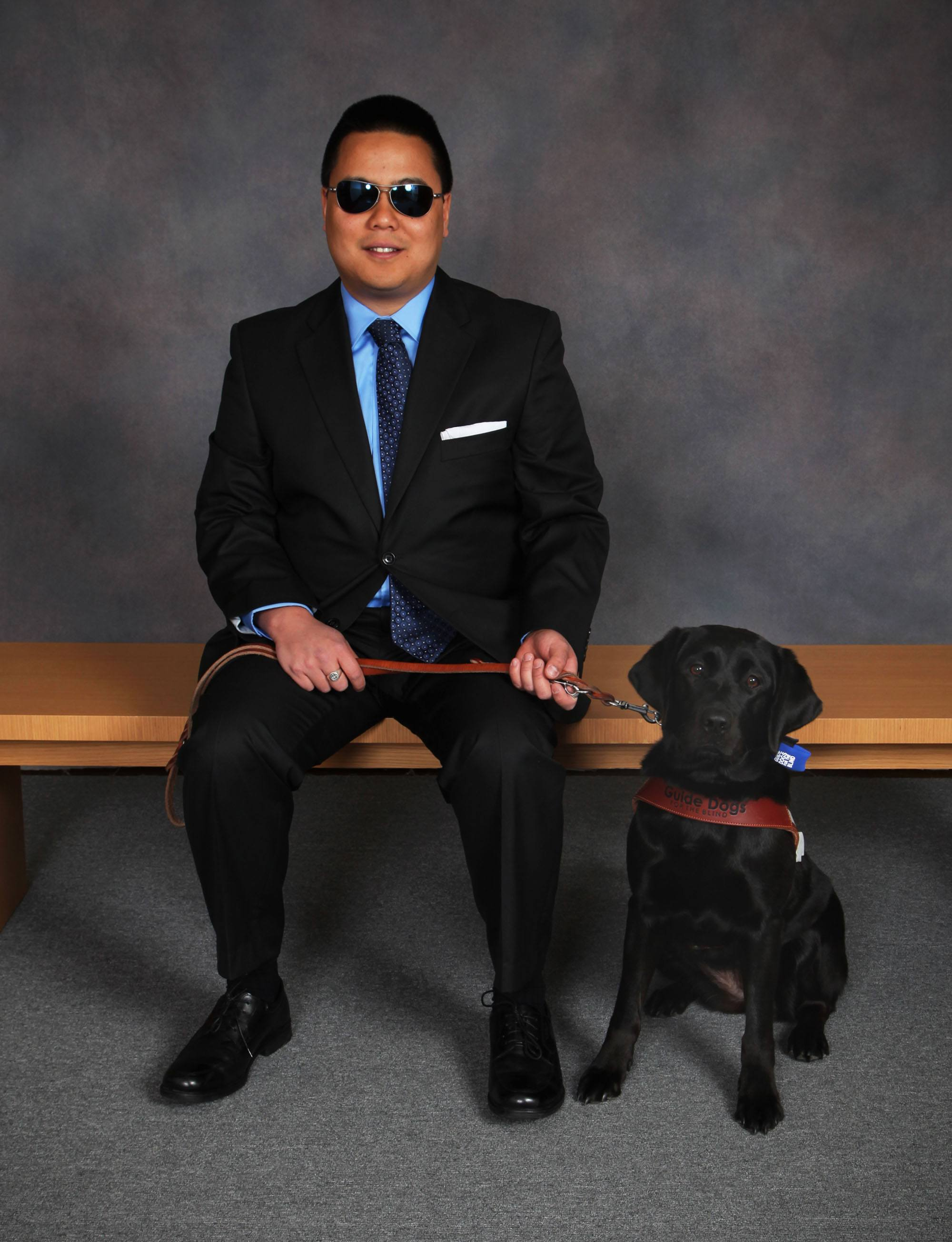 Anthony Janolino graduating from Guide Dogs for the Blind with Vanda (Guide Dogs for the Blind/Flickr)