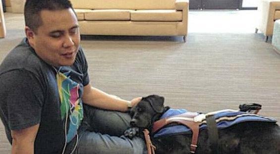 Anthony janolino and his guide dog vanda joseph janolino