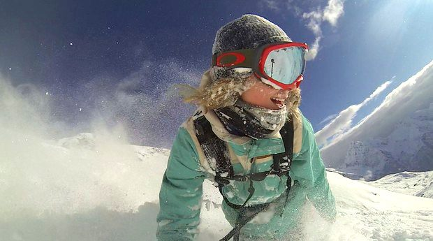 Marie-France Roy is one of the female snowboarders featured in Full Moon (Marie-France Roy)