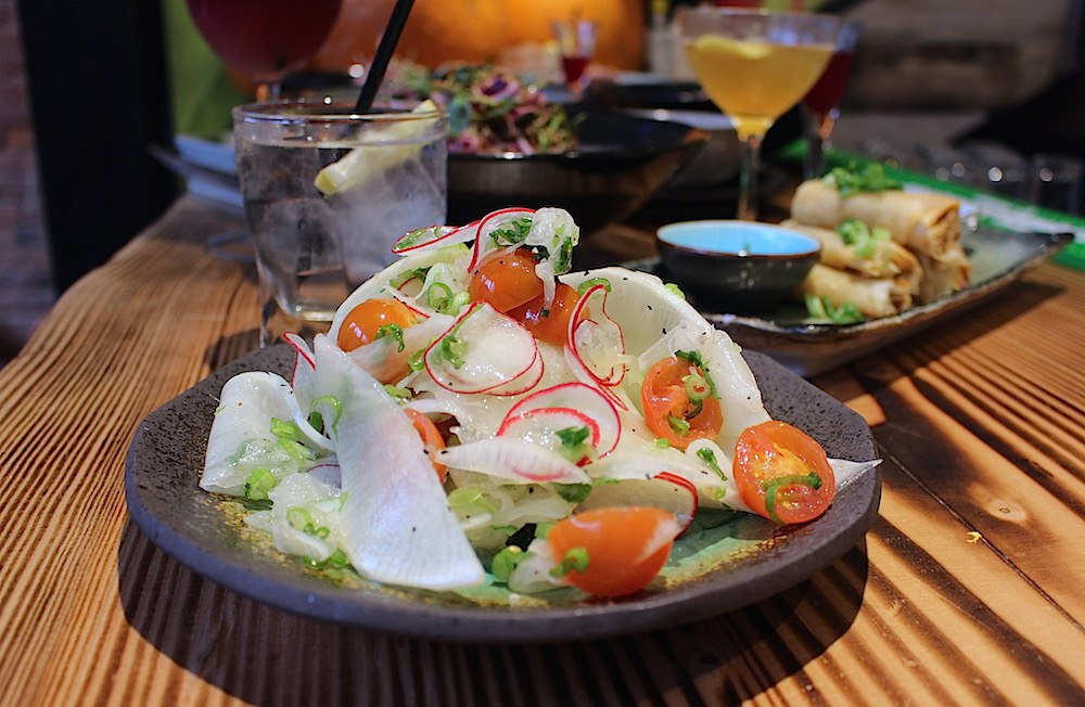 White radish salad (Lindsay William-Ross/Daily Hive)