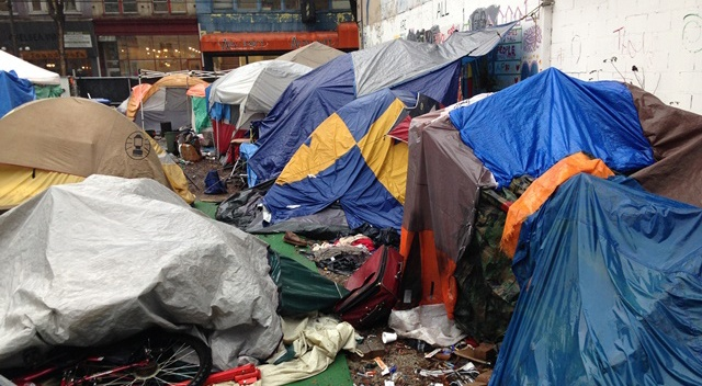 The tent city at 58 west hastings city of vancouver