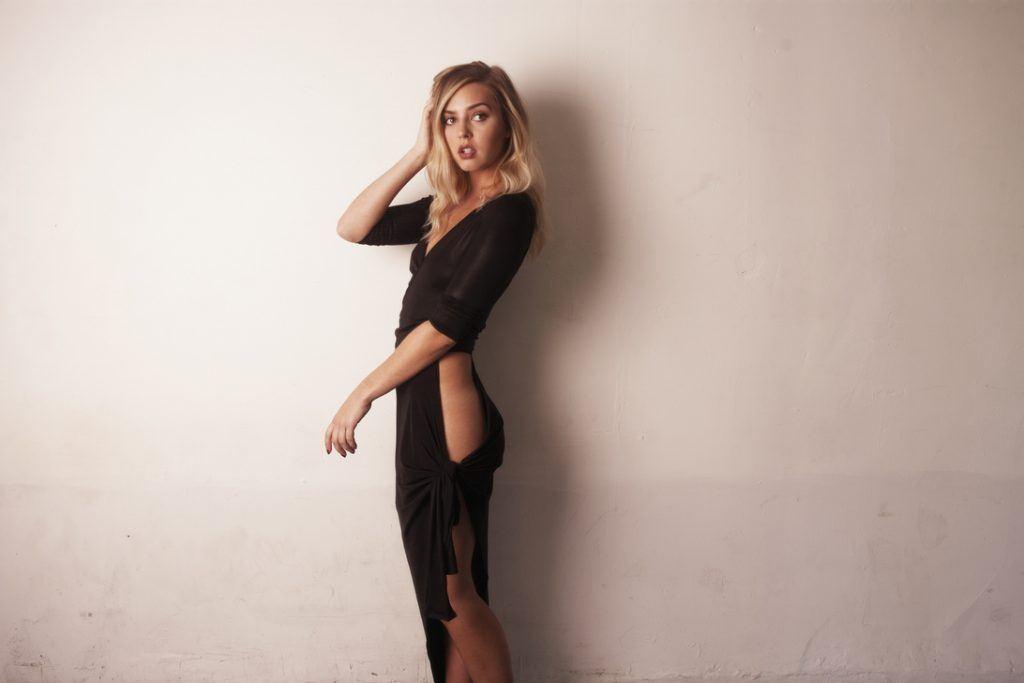 Nikolina Nolan black dress