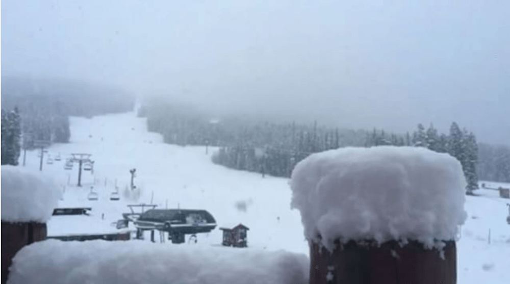 Lake Louise got a dumping of snow yesterday (PHOTOS)