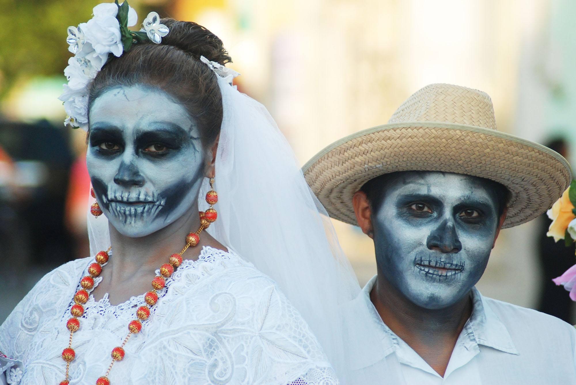 Catrina and Catrine face makeup (Mexico Tourism Board)