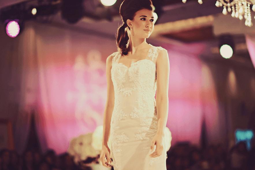 A wedding dress on show at the Crème de la Crème Grand Wedding Showcase (Crème de la Crème/Facebook)