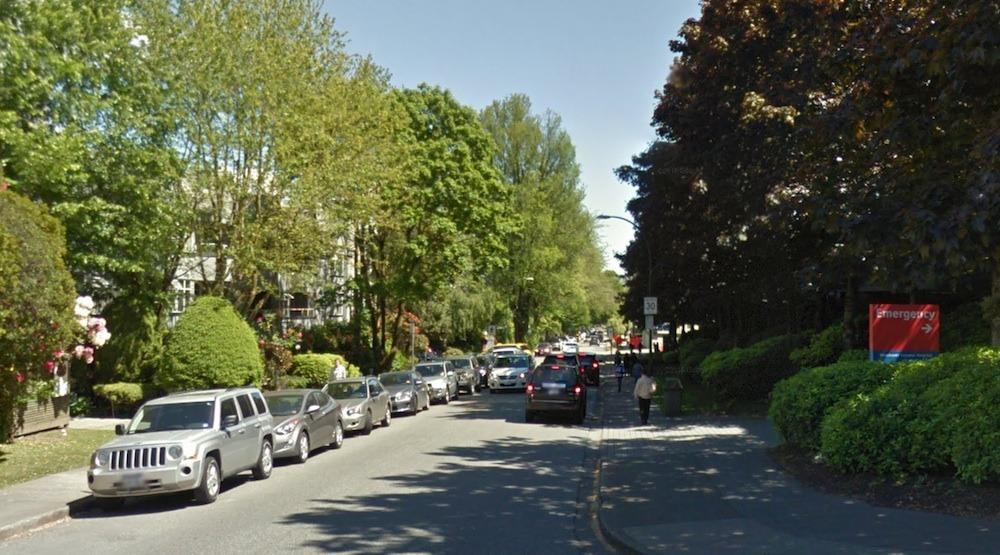 West 10th avenue bike lane vancouver general hospital