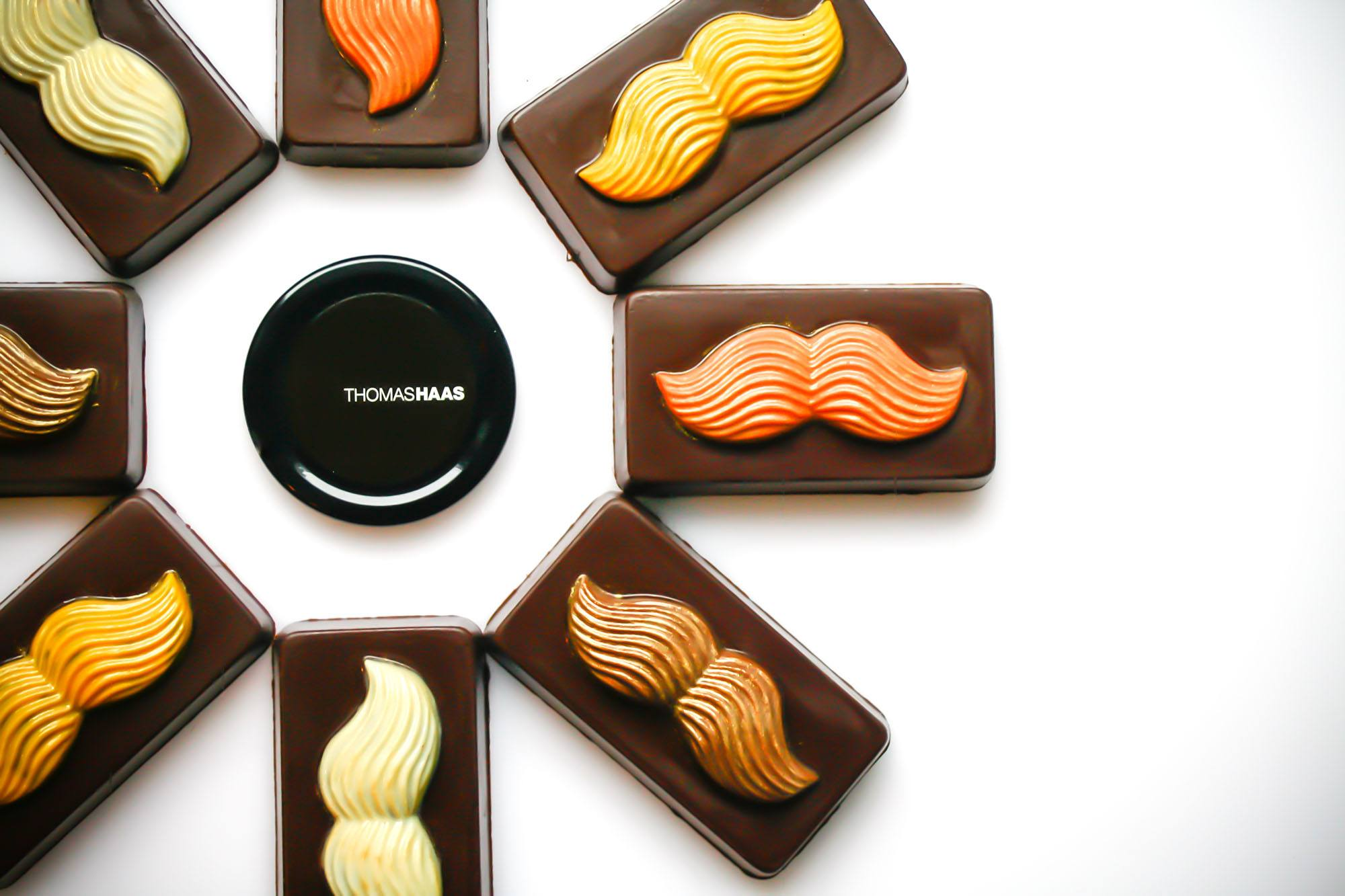 Thomas Haas Movember Moustache Bars feature Guinness ganache and a stout-malt wafer (Thomas Haas)