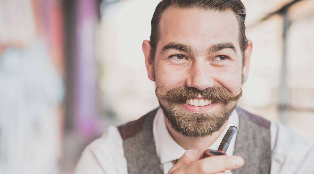 Hipster man with moustache shutterstock