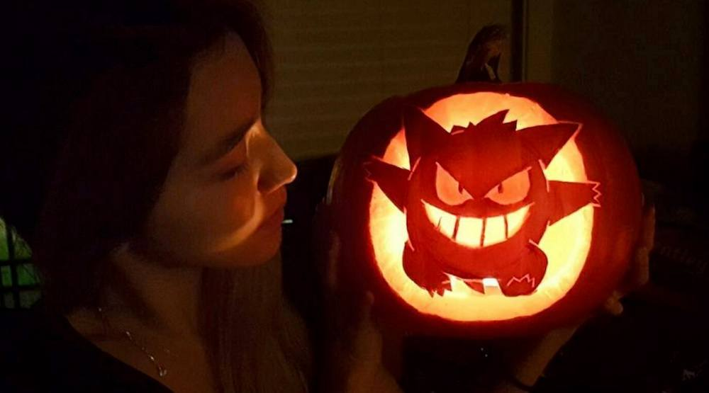 Gengar pokemon halloween pumpking carving
