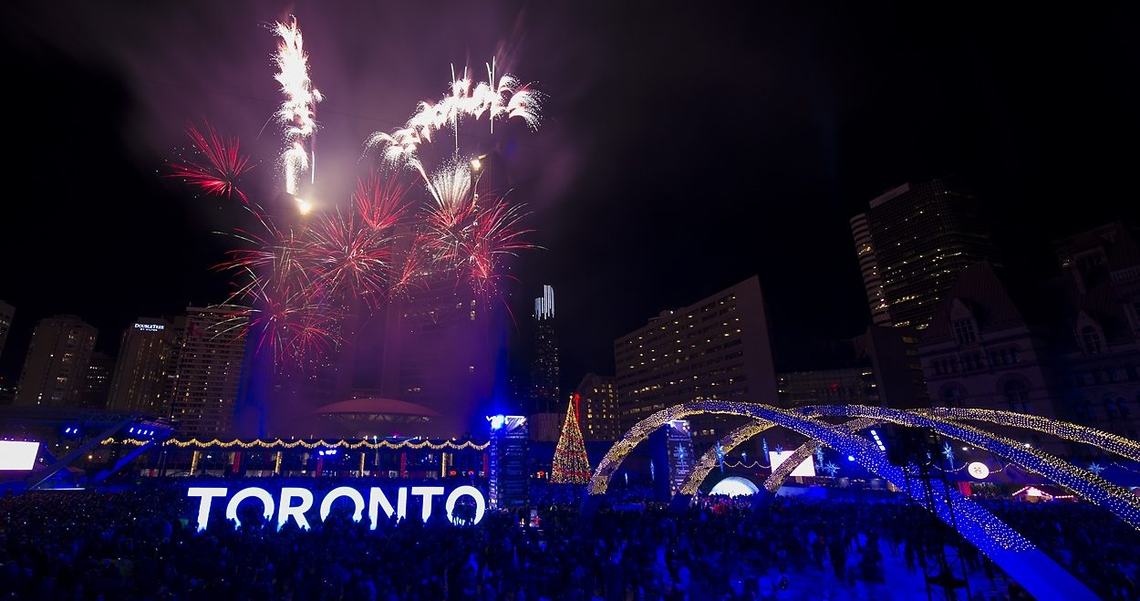 Toronto is putting on a massive fireworks show to kick off the holiday season