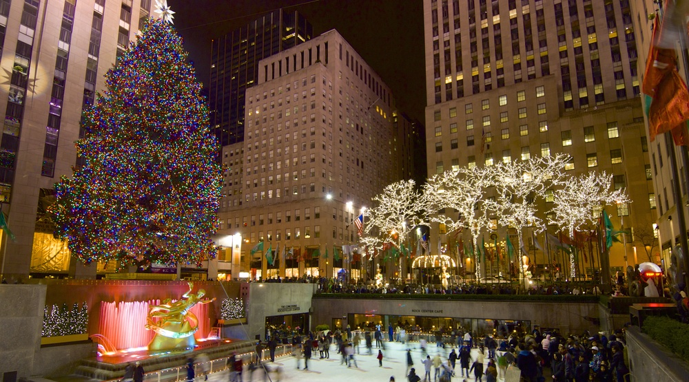 Lovely Image: Rockefeller Center, New York / Shutterstock. A Giant Christmas Tree  ...