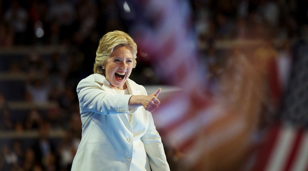 Hillary clinton accepting nomination shutterstock