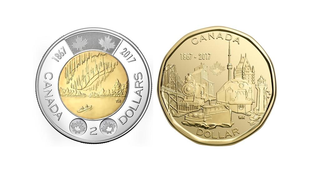 Canada 150 toonie loonie 2017