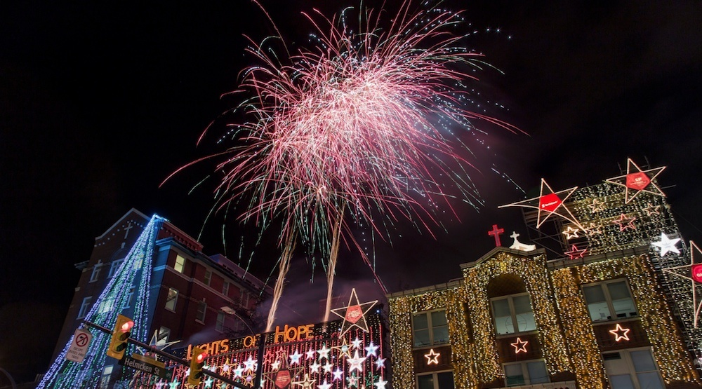 Lights of Hope 2016 fireworks show in downtown Vancouver