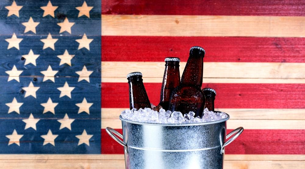 American flag beers