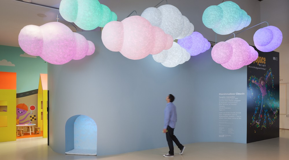 Tangible interaction marshmallow clouds 2016
