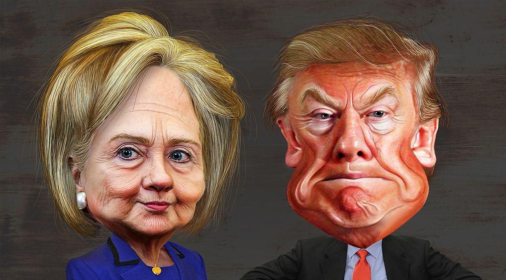 Hillary clinton vs. donald trump   caricatures