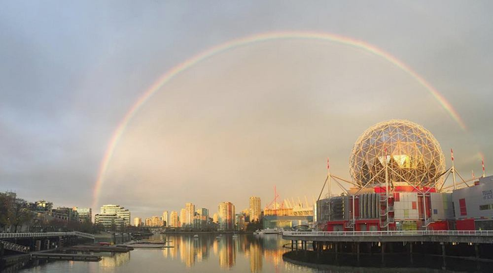 19 colourful photos of this morning's epic full rainbow over Vancouver