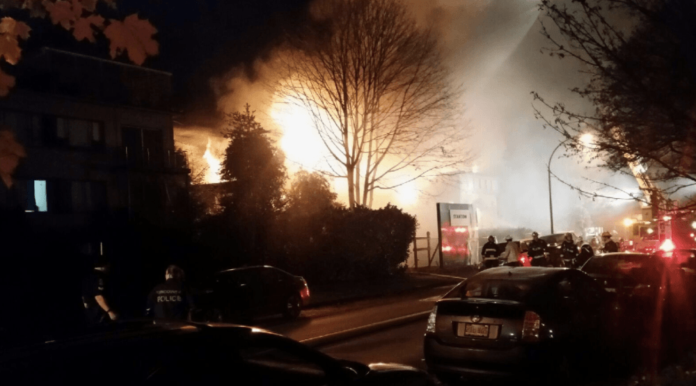 Fire destroys historic abandoned Vancouver church