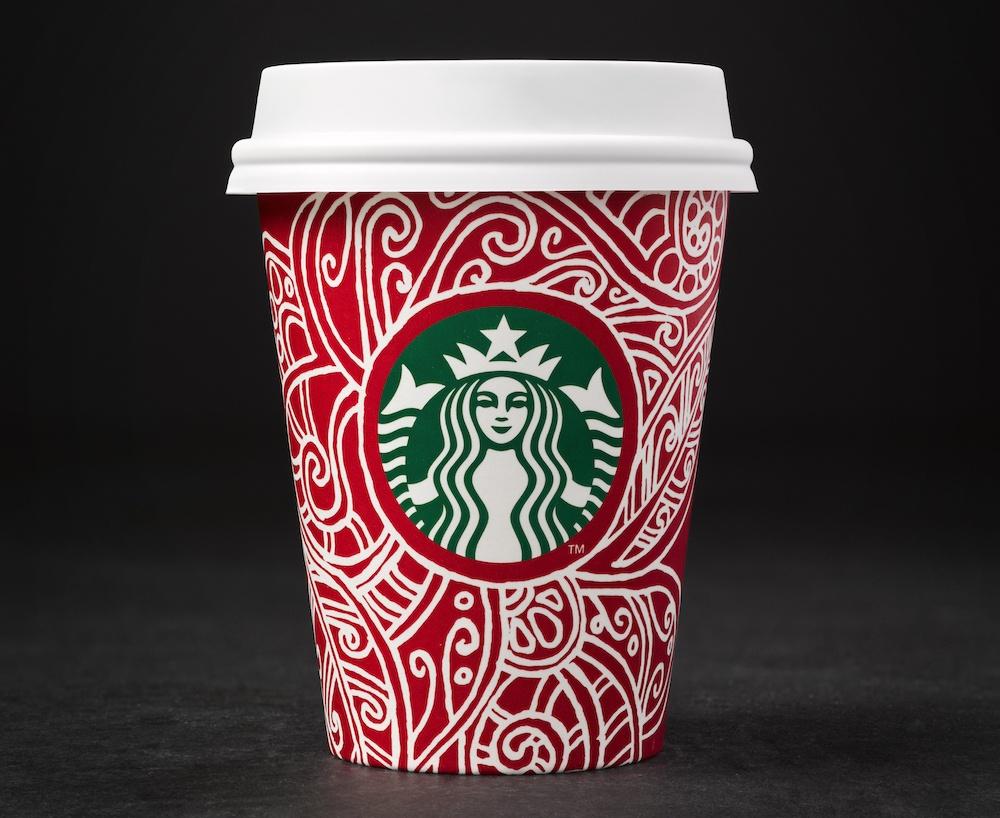 Erica's winning design (Photo courtesy Starbucks)
