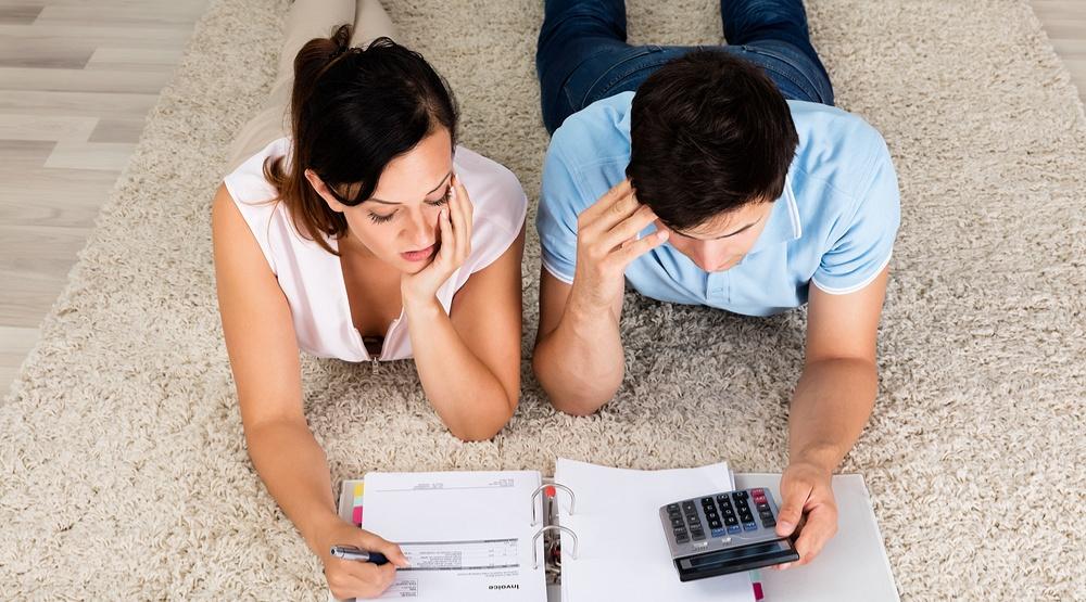 Couple in debt shutterstock