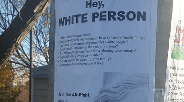 Hey white person