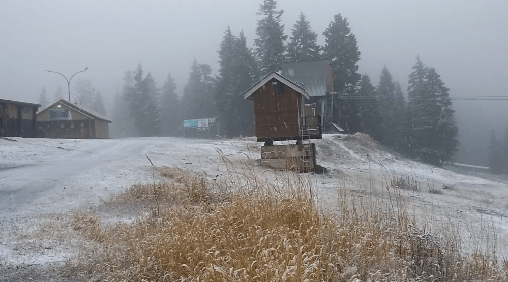 Mount Seymour gets first snow of the season