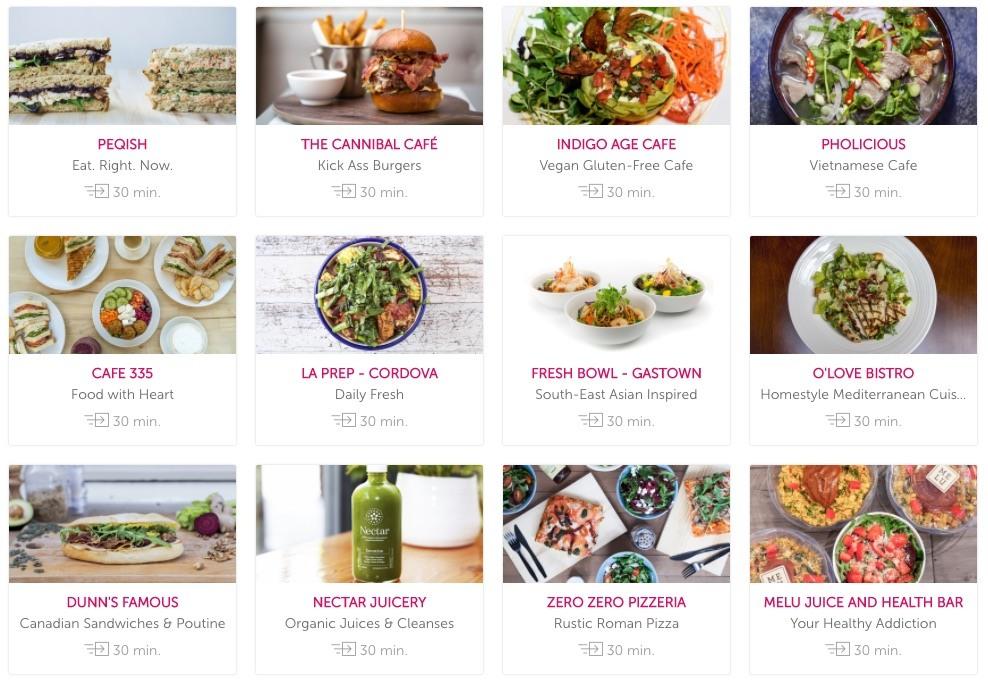 Screenshot/foodora.ca