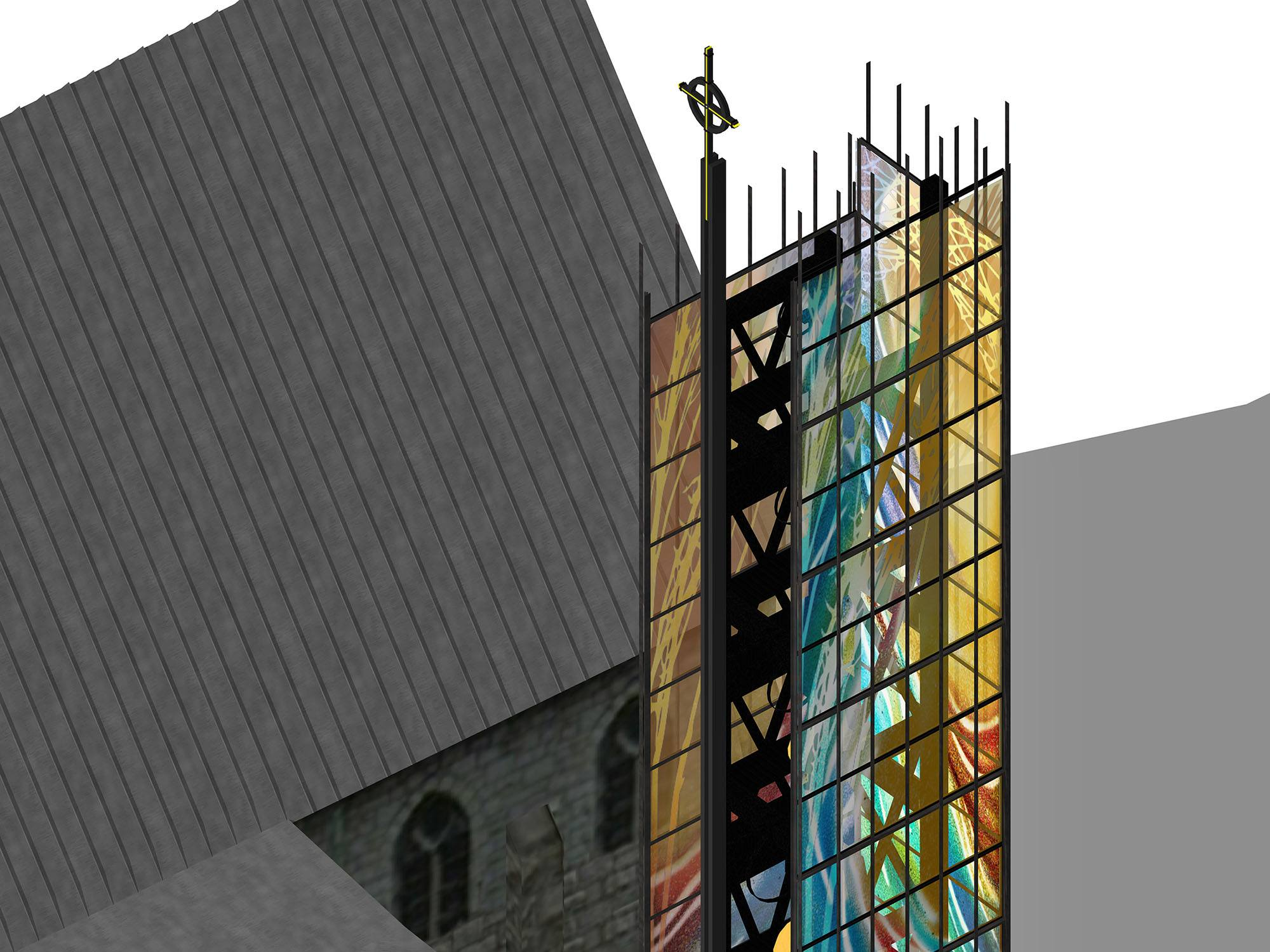 Christ Church Cathedral's new bell tower (Sarah Hall Studio)