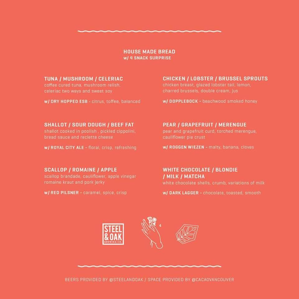 Menu for November 21 event