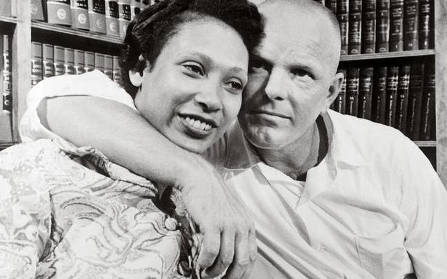 Photo of the real Richard and Mildred Loving from Life Magazine