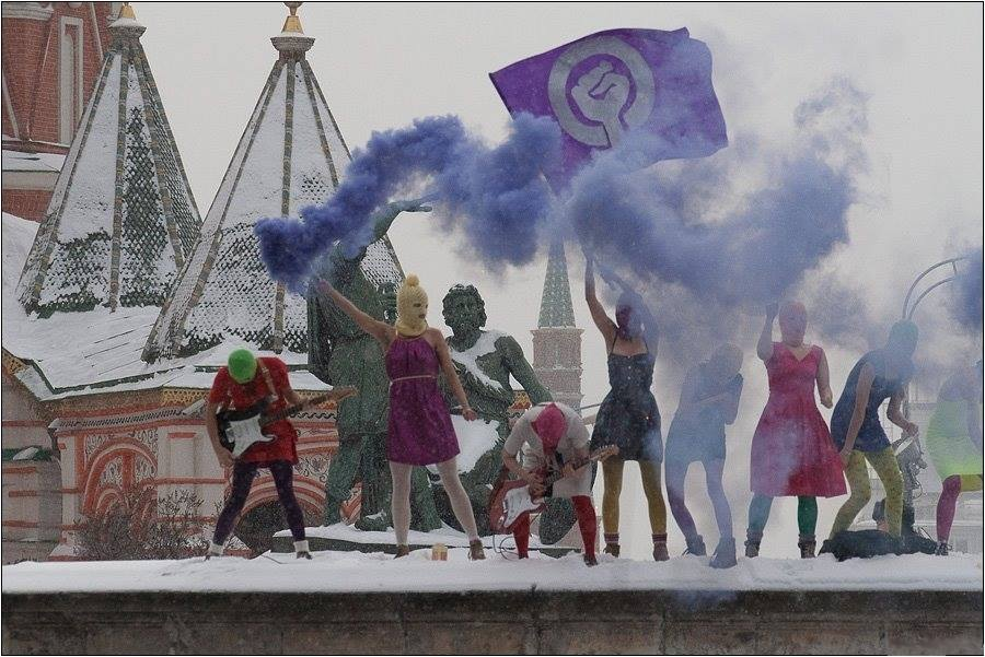 Pussy Riot protesting in Russia (TicketFly/Facebook)