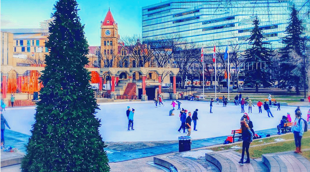 Olympic Plaza's outdoor skating rink is now open for the season