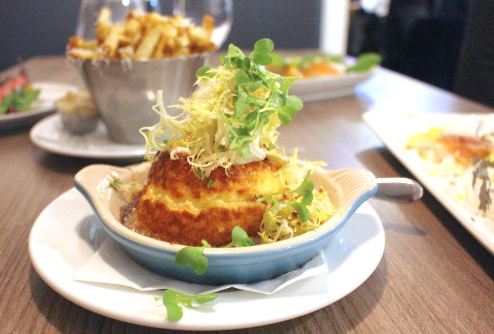 Twice-baked cheese souffle at Salted Vine in Squamish (Lindsay William-Ross/Daily Hive)