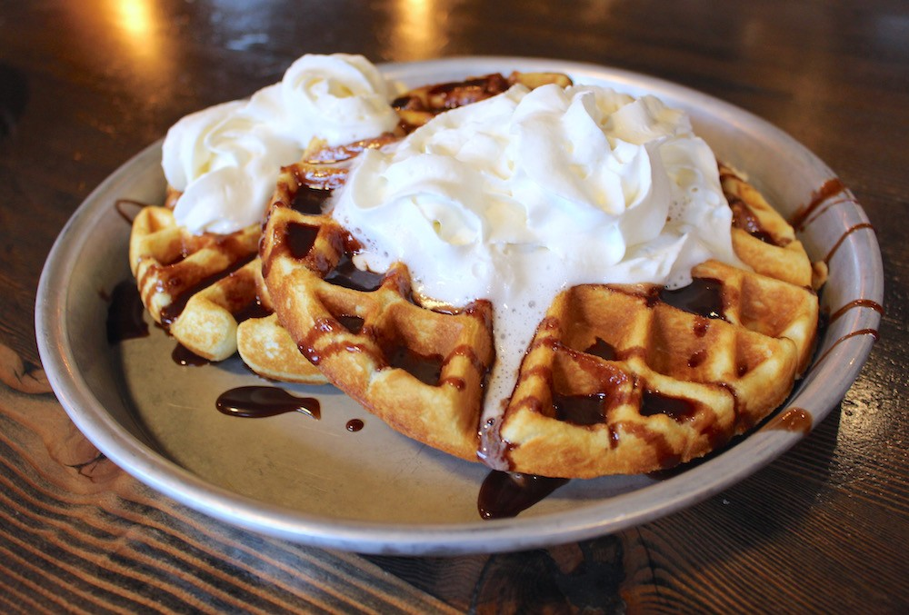 Waffles at the Copper Coil (Lindsay William-Ross/Daily Hive)