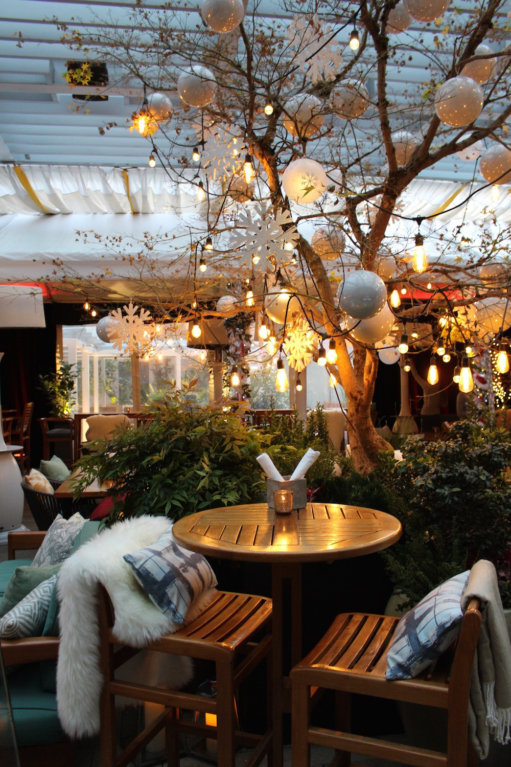 Reflections Cozy Winter Wonderland Patio Opens This Week