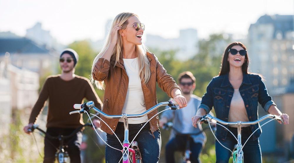 Friends biking shutterstock