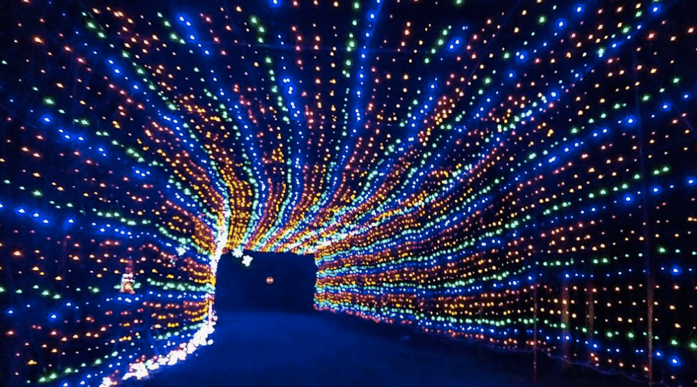 This Drive Thru Christmas Light Tunnel Is Just 2 Hours