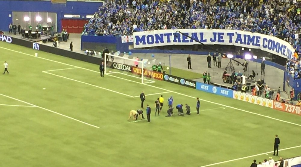 Montreal impact lines painted