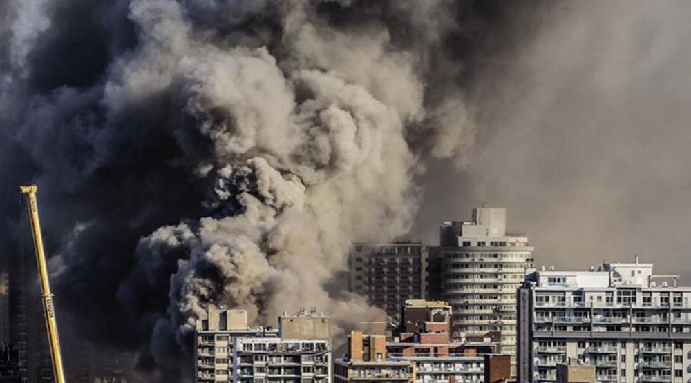 11 photos and videos from the raging fire that broke out on Parc and Sherbrooke this morning