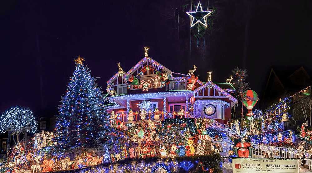 100,000 Christmas Lights for Charity illuminate North Vancouver home