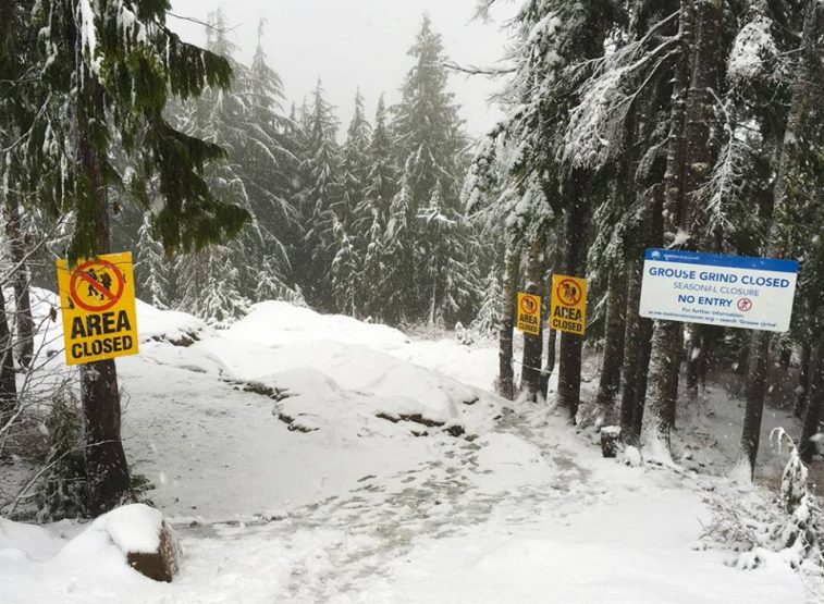 Grouse Grind now closed for the winter