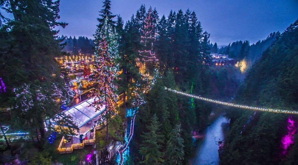 Check out the world's tallest Christmas trees at Capilano's Canyon Lights this winter