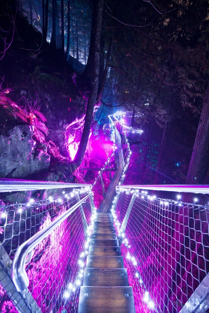 Canyon lights cliffwalk colour changing