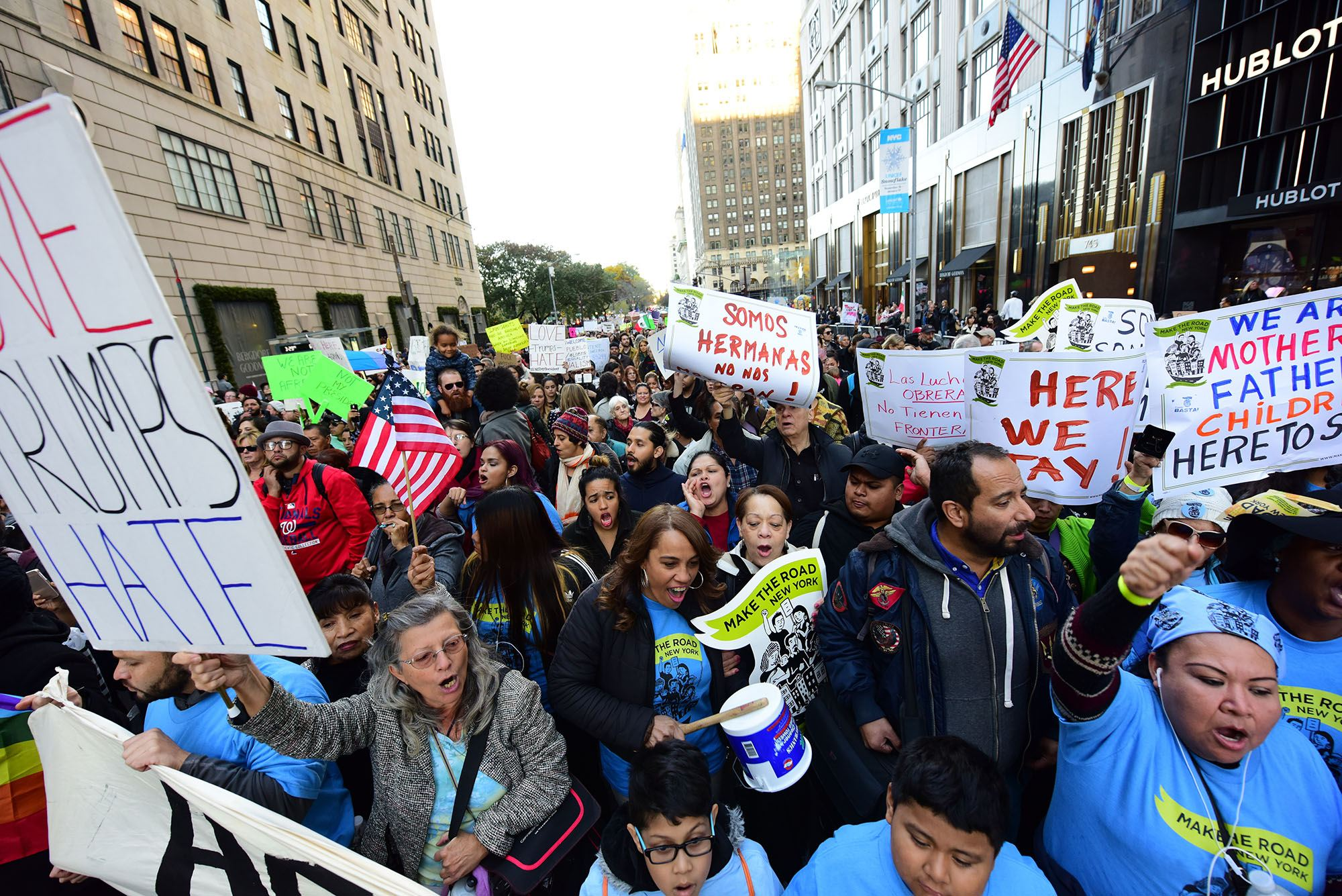 More than 2,000 activists marched in New York to protest President-elect Donald Trump's proposed immigration policies in November (a katz/Shutterstock)