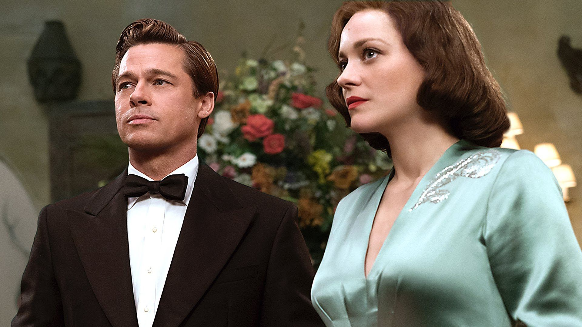 Brad Pitt and Marion Cotillard in Allied (Paramount Pictures)