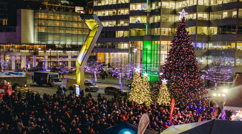 Vancouver Christmas Tree Lighting (Vancouver Convention Centre)