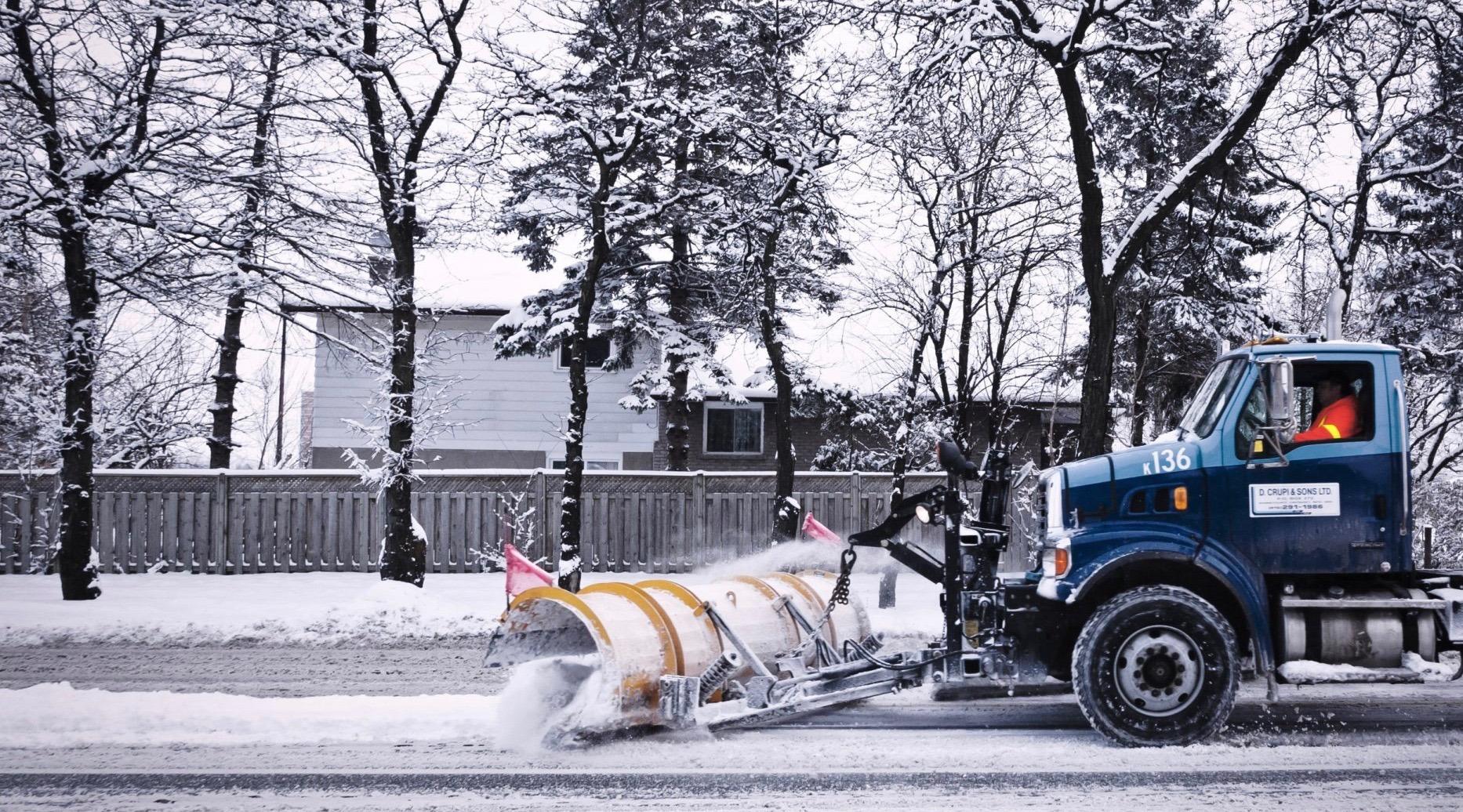 Snow toronto christmas day 1